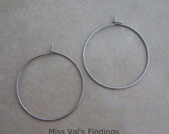 400 wine glass charm earring hoops stainless steel