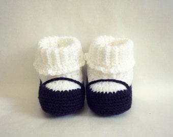 Alice! Crochet Baby Mary Jane booties. Uncinetto Scarpine bambina