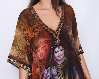Lord Shiva design Swarovski Crystal Top