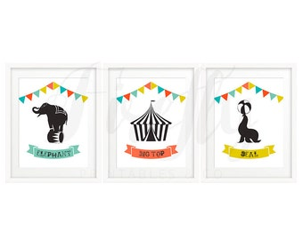 Set Circus - Nursery Wall Art Decor Kids Bedroom Printable Digital Art INSTANT DOWNLOAD
