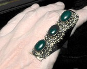 adventurine fitted saddle ring statement ring size 8