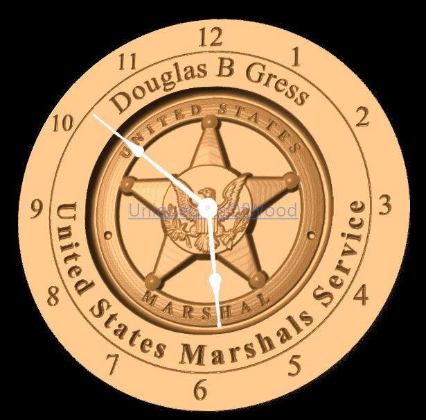 u s marshall clock custom wall clock personalized clock. Black Bedroom Furniture Sets. Home Design Ideas