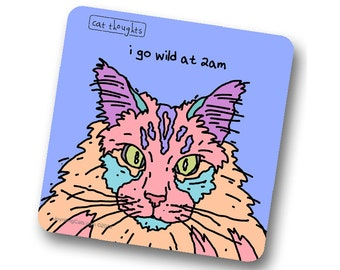 Amazing Cat Coaster - Go Wild - 1CT - Great Pet Lover Gift - Collect All