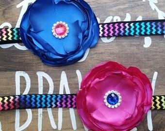 Large Silk Flower Headband