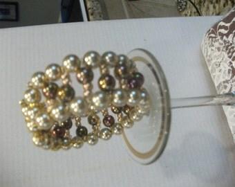 Pearl Cuff Adjustable Bracelet.