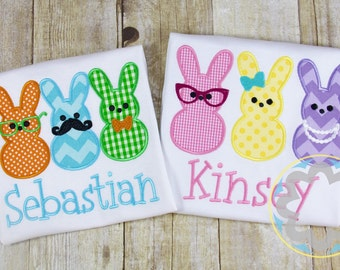 Sibling Easter Bunny Monogrammed/Personalized Shirts