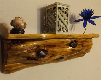 Cedar Log Shelf / Rustic /Wood/ Cabin / Lodge /Mantel /Log Furniture
