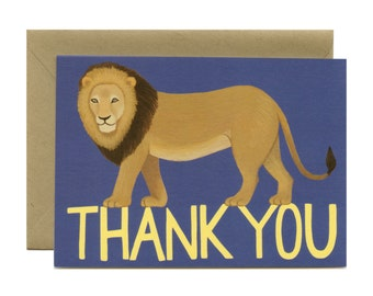 "Lion Thank You Card - ""Thank You"" - ID: TY097"