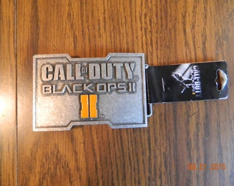 Mint with tag- OFFICIALLY LICENSED Call Of Duty Black Ops II metal Belt Buckle
