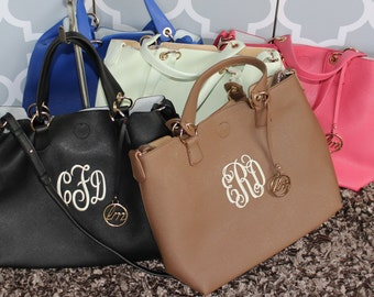 Monogrammed Handbag/Tote/Great Gift/ All Season Bag