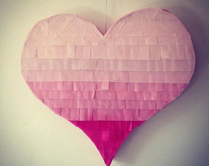 Piñata Ombre Heart Piñata | Heart-Shaped Piñata | Wedding Piñata | Baby Shower Piñata | Gender Reveal Pinata | Wedding Decor