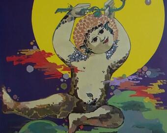 1982 Wiinblad A Midsummer Night's Dream - Original Vintage Poster