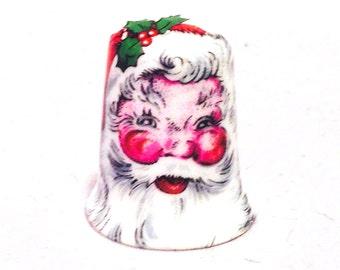 Santa Claus or Saint Nick China Thimble