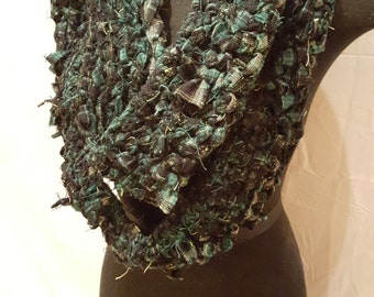 Crocheted Flannel Infinity Scarf