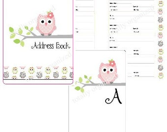 Adorable Owl Address Book - Spiral Bound