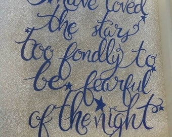 Papercut quote loved the stars too fondly hand cut framed