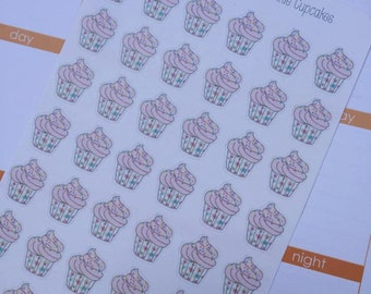 Sprinkle Cupcake Stickers by Ella Couture by Jessica