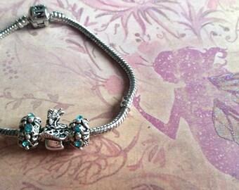 Magical Fairy Toadstool Charm Bracelet