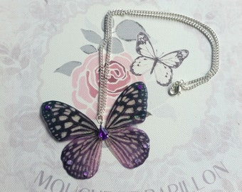 Beautiful Tiger-Purple Butterfly Pendant