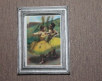 DOLLHOUSE MINIATURE Painting/ Picture # 110, Beautiful Ballerinas, 1:12 Scale