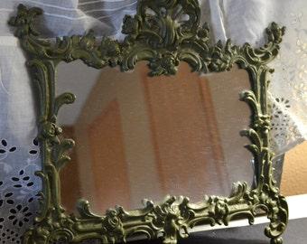 Vintage Ornate framed mirror Metal Frame