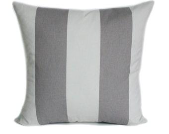 Gray pillow cover, Decorative pillow, Accent pillow, Throw pillow, Couch cushion, Sham, Stripe pillow, 18x18, 20x20, 22x22, 24x24, 26x26