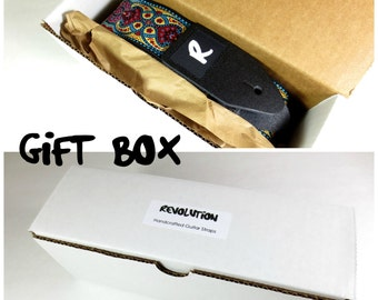 Gift Box For Your Guitar Strap - White Cardboard - Super Strong - 9 x 3 x 3