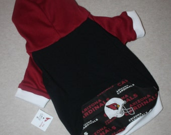Arizona Cardinals Dog Hoodie / Personalization Available!