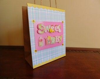 Baby Girl Gift Bag, Sweet Baby Gift Bag, Baby Shower bag for girls