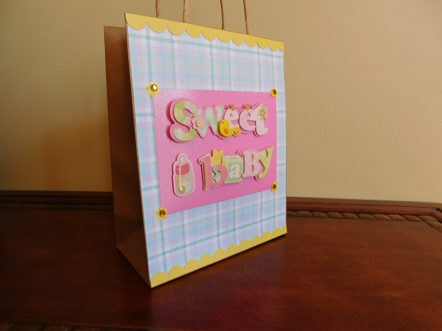 Baby Gift Bags Uk : Baby girl gift bag sweet shower for