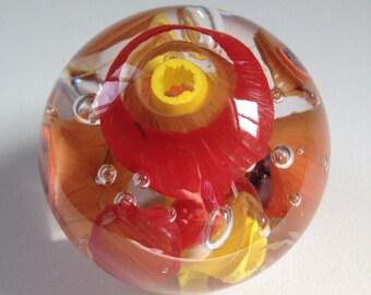 Handmade Glass Murrini Paperweight
