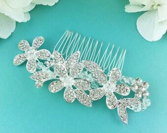 Swarovski Crystal Bridal Comb, Rhinestone Comb, Bridal Comb Crystal, Wedding Crystal Hair Comb, Hair Comb, Wedding Accessory, Comb 273009218