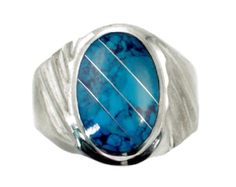Mens turquoise ring Etsy