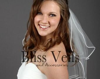 Pearl Wedding Veil, Short Veil, Ivory Veil, White Veil, Available in any length! Bliss Wedding Veils