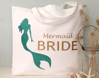 Beach Bride Tote Bag: Bride tote bag wedding tote or