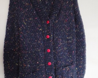 Ladies hand-knitted chunky cardigan