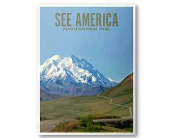 Denali National Park - See America Print