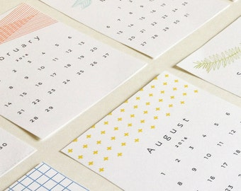2016 Printable Calendar Cards - 50% Off!
