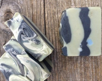 Eucalyptus Tallow and Olive Oil Bar Soap, Clay Soap Bar, Eco Friendly, Gentle, Gift Soap, natural soap, gift for him, Father's Day