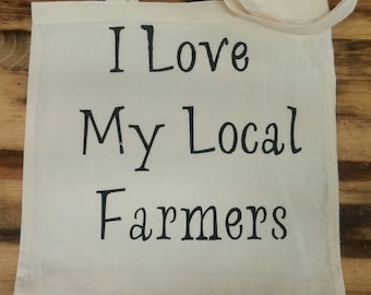 Farmers Market Tote, Shopping Bag, Reusable Bag