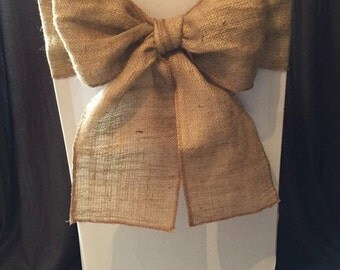 100 x Hessian / Burlap Rustic Wedding Chair Sashes