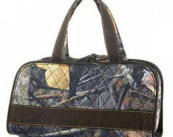 Quilted Camo Cosmetic Bag with FREE Monogram