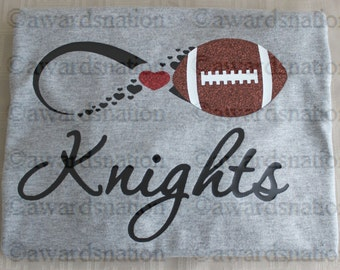 Personalized Ladies Custom made Football Infinity shirt - Choose your team name and colors