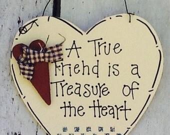 Friendship ornament, friend ornament, friend heart ornament, best friend ornament, friends gift ornament, christmas ornament, best friends