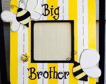 Big brother frame, big sister frame, bumble bee frame, newborn frame
