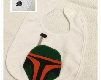 Star Wars baby bib - Millennium Falcom, Boba Fett (can be made with any characters you want)