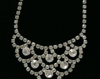 Vintage Wedding Perfect Rhinestone Necklace