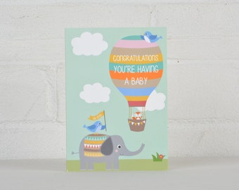 Expecting a Baby Card, Congratulations you're expecting Card, Pregnancy Card, Pregnancy Gift, Congratulations Card for parents to be