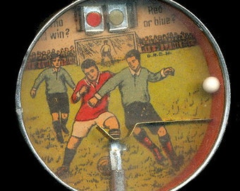 "1920s Germany Soccer ""Pinball"" Hand Held/Palm Puzzle Game"