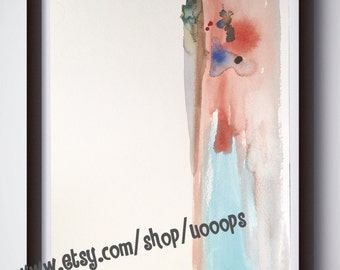 Abstraktion I - Original watercolor painting not framed - by uooops